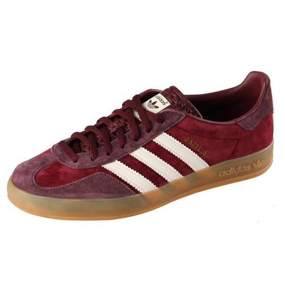 d8a9a9b9af5a adidas Shoes - Adidas Gazelle Suede Burgundy w  Gum Sole